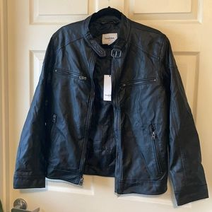 Goodfellow & Co Faux Leather Coat Small Black